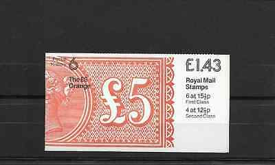 GB 1982 Postal History #6 Folded £1.43 Booklet - FN 5A