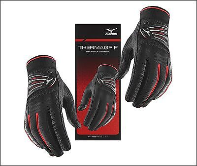 2017 Mizuno Thermagrip Golf Gloves Pair Winter Thermal Water Resistant Men's NEW