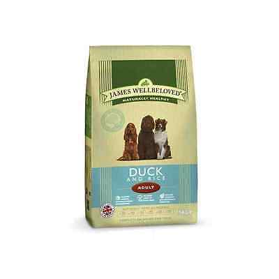 15kg James Wellbeloved Dog Food Duck and Rice Adult