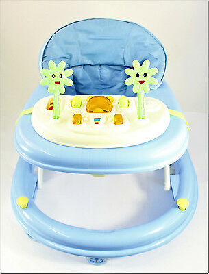 NEW Blue Activity Walker Adjustable Musical Baby Activity Toy Lights & Sounds