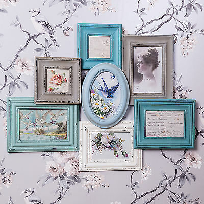 Multi Aperture Wall Photo Frame Photograph Shabby Vintage Chic Decor Gift Home