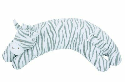 Angel Dear Curved Pillow, Grey Zebra Stripe