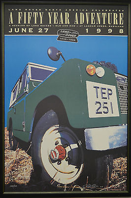 Rare & Collectible Land Rover 50th Anniversary Poster