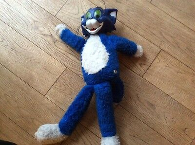 vintage Blue Tom soft pull cord toy ( Tom and Jerry )