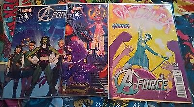 Marvel Complete Set of 10 A-Force Comics First Print Brand New! Mint Condition!