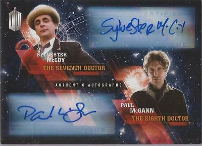 "Doctor Who Timeless - Dual Autograph Card McCoy & McGann ""7th & 8th Doctors"""