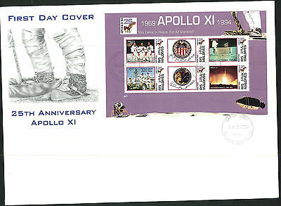 1994- 25th Ann. Apollo X1 FDC - Maldives Pmk