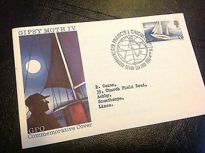 GPO FDC Sir Francis Chichester Gipsy Moth IV 1967 Plymouth Special Postmark