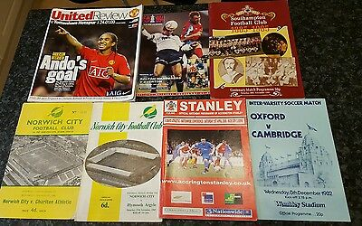 Collection Of Football Programmes