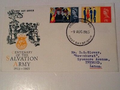 GB 1966 salvation Army on Official fdc cancelled FDI Douglas IOM