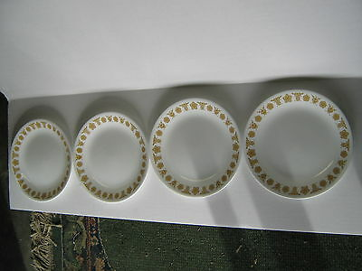 Corelle Gold Butterfly Set 4 Lunch Sandwich Salad Plates 8.5In. Corning Usa