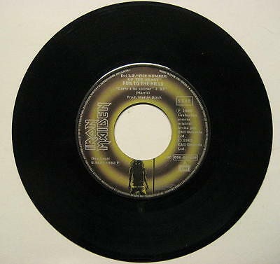 """IRON MAIDEN """"RUN TO THE HILLS / TOTAL ECLIPSE"""" - 7"""" SINGLE rare SPANISH PRESSING"""