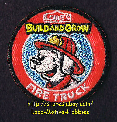LMH PATCH Badge  2014 FIRE TRUCK Firetruck DALMATION Dog LOWES Build Grow Helmet