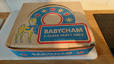 Vintage 1970's Babycham 6 Glass Party Pack New in Box Never Used