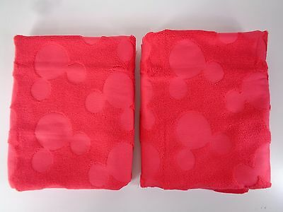 Disney Exclusive Bath Towel Mickey Mouse Icon Red 51 x 30 100% Cotton Set of 2