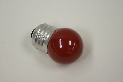 Sylvania red 7.5 watt darkroom bulb with standard base. New old stock