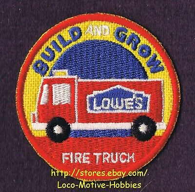 LMH PATCH Badge  FIRE TRUCK Firetruck Engine Fireman LOWES Build Grow Rescue