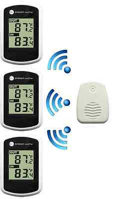 Wireless Thermometer Indoor Outdoor Temperature 3 Display Weather Station Remote