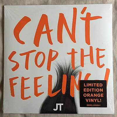 "Justin Timberlake Orange 12"" Vinyl Can't Stop The Feeling"