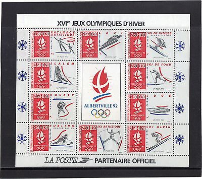 1990 - MS  WINTER OLYMPIC GAMES, ALBERTVILLE (1982) 2nd ISSUE M.N.H. CAT £23