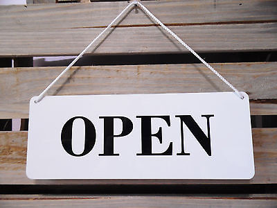 Open/closed Sign White For Retail/shop/business Window With Cord And Sucker