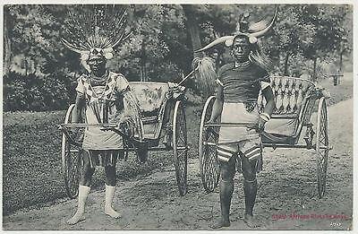 Old Ethnic card of South Africa - Posted in Durban 1915