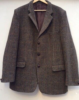"Vintage Dunn & Co/harris Tweed Checked Jacket. Size 42""/44"" Chest"