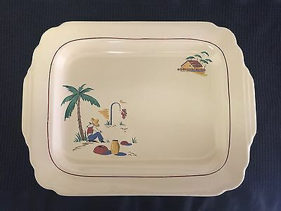Homer Laughlin Century Platter Sleeping Mexican HTF Decal