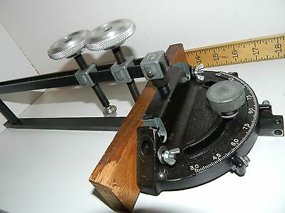 VINTAGE DELTA ROCKWELL MITER GAUGE GAGE with HOLD DOWN