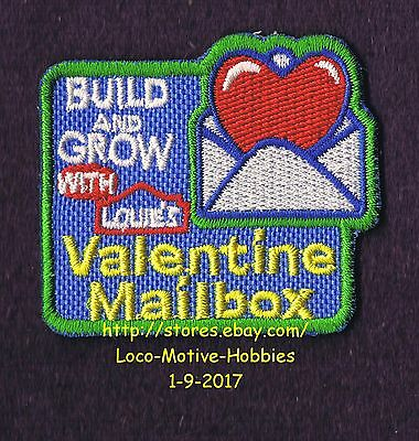 LMH PATCH Badge VALENTINE DAY MAILBOX Letter Holder LOWES Build Grow Valentines