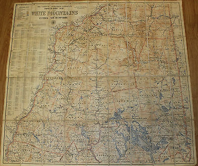 Antique 1902 National Publishing Company Topographic Map: White Mountains NH