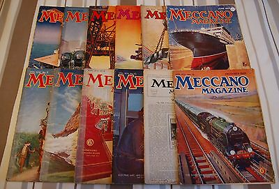 Meccano Magazines January-December 1929 12 Issues -Collectable/Classic Rail Toys