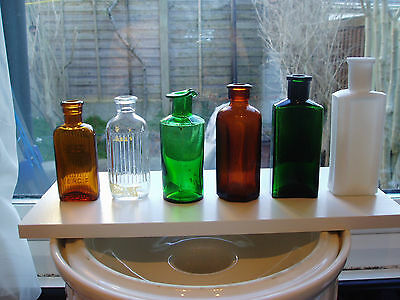 Six Assorted Small Bottles - Incl Poison