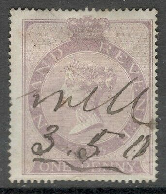 Queen Victoria - SGF12 - 1d Lilac - Good Used  - Anchor 16mm..