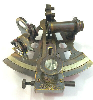 Kelvin & Hughes Antique Maritime Sextant Vintage Nautical Brass Working Sextant