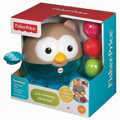 Mattel Fisher Price - 2-in-1 Activity Chime Ball - Brand New