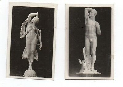 Two Small Photo of Statues at the 1915 PPIE World's Fair at San Francisco