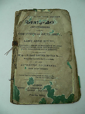 The Death Bed Confessions of the Late Countess of Guernsey - 1822 pamphlet