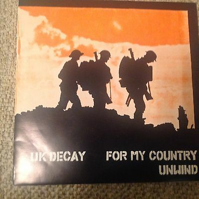 "Uk Decay - For My Country .  7""  Vinyl Single / Punk."