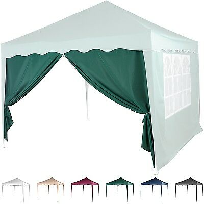 Side Wall Pavilion 3x3m Pop-up tent Zip green