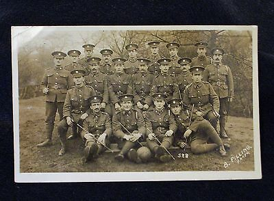 Ww1 Rppc Group Of Rasc Soldiers With What Looks Like A Football.
