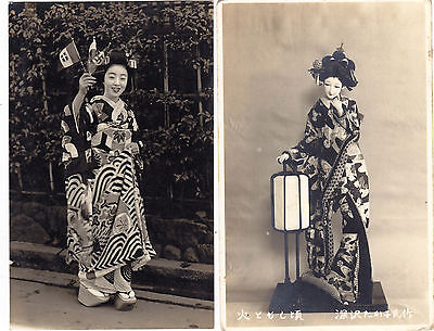 JAPAN 1940 two postc. photogr. one to ITALY