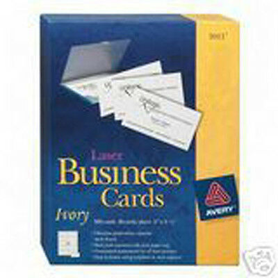 Avery 5376 Ivory Laser Business Cards 2X3.5 250 Ct.