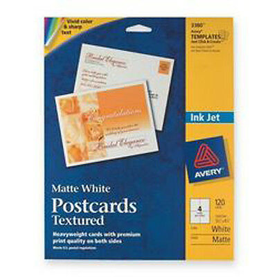 "Avery 3380 WHITE MATTE TEXTURED POSTCARDS 4.25"" x 5.5"""