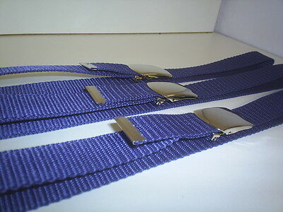 Navy Blue  Boys Or Girls   School Belts  22 X 27   Inch Waist Snap To Buckle