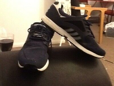 adidas navy blue trainers size 9.5