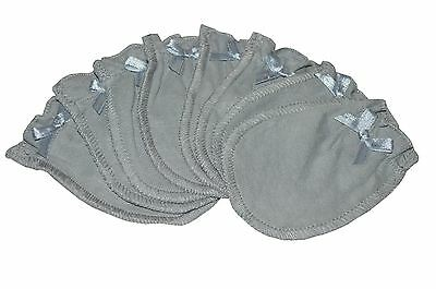 4 Pairs 100% Cotton Newborn Infant/Baby Anti-scratch Gloves/Mittens - Solid Gray