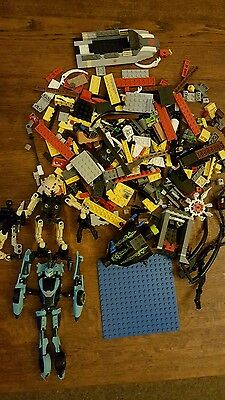 Large collection of loose Lego Inc blue base plate