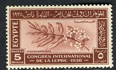 EGYPT;  1938 Leprosy Research issue fine Mint hinged 5m. value