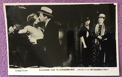 """""""I Cover The Waterfront """" with Claudette Colbert R/P Postcard (plain back)"""